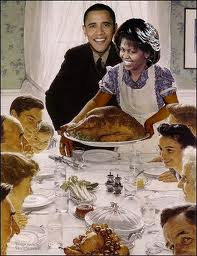 obama and family thanksgiving celebration