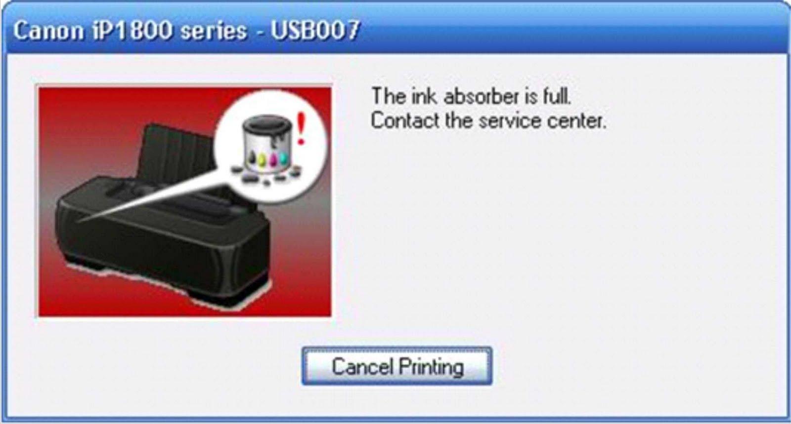 Berikut beberapa kode blink pada printer pixma IP1200, IP1300, IP1600