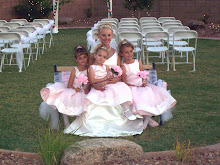 My mom and girls at the wedding