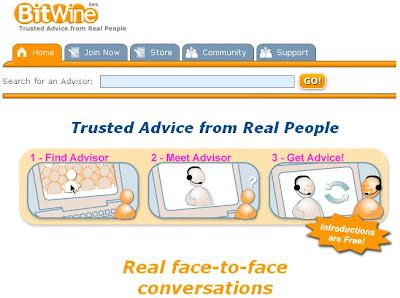 BitWine allows you to avail trusted advice from real people