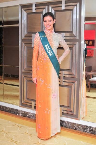 miss earth 2010 ao dai bolivia yovana o'brien