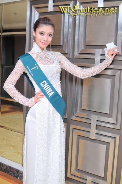 miss earth 2010 ao dai china zhao shenqianhui