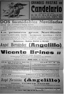 Cartel de fiestas de Candelario Salamanca de 1951