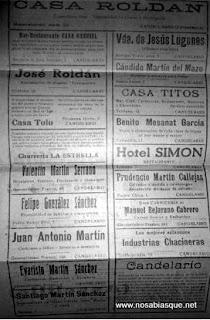 Propaganda en las fiestas de Candelario de 1951