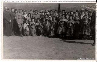 Candelarias en las Eras años 50 en Candelario Salamanca
