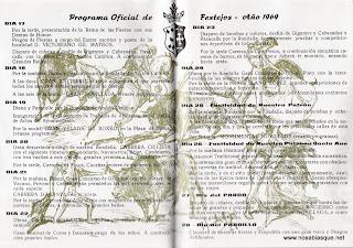 Programa de Fiestas de Candelario Salamanca 1969