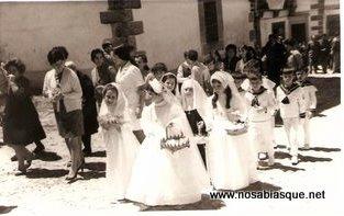 Comuniones en Candelario Salamanca en 1969
