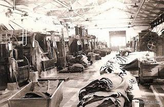 Nave de trabajo en la antigua fábrica Textil Navazo de Bejar en la que trbajaron muchos obreros de Candelario Salamanca
