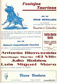 Candelario Salamanca cartel de toros de 1975
