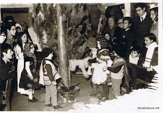 Belen viviente en auxilio social en Candelario Salamanca