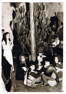 Nacimiento viviente en Auxilio Social 1973 en Candelario Salamanca
