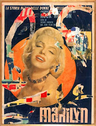 Mimmo Rotella, Marilyn - (1970)