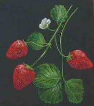 """Strawberries""/ pastel"