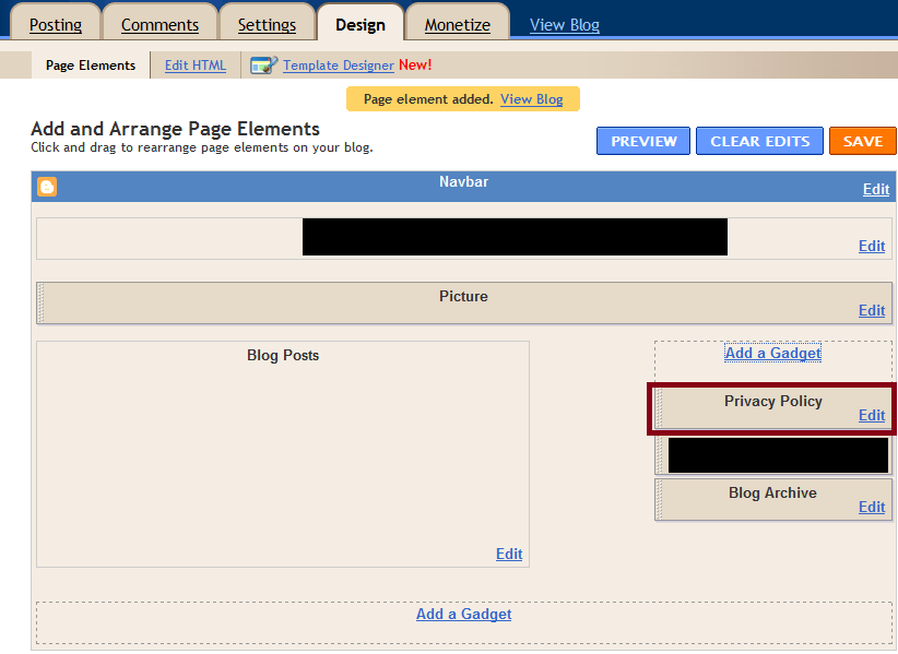 Add Google Adsense Privacy Policy To Blogspot Blogger - Blog privacy policy template