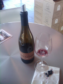 Pinot Noir and grapes at Cuvaison Winery in Sonoma