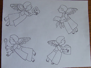 Kitchen Angels Coloring Page