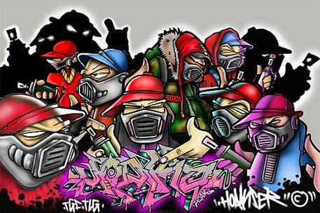 graffiti art character of the design face at Graffiti Art Design  Graffiti
