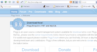 Pligg.com Homepage: Pligg CMS Download