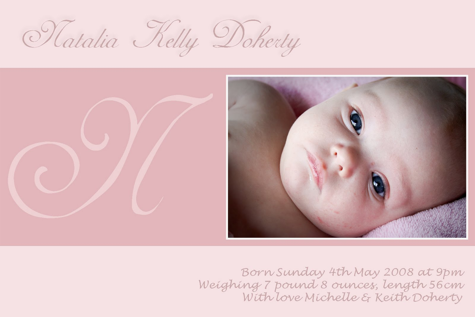 angelina plum  birth announcements and thank you cards girl