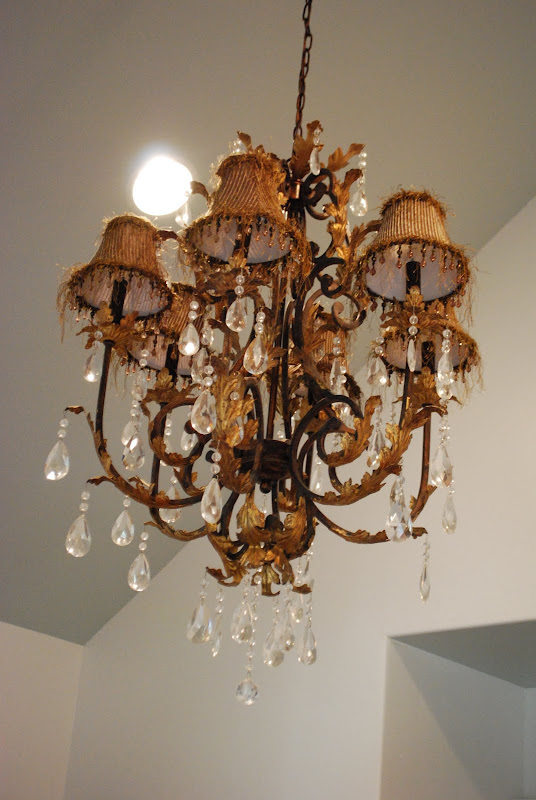got this Chandelier in a little shop and could not find sconces that  title=