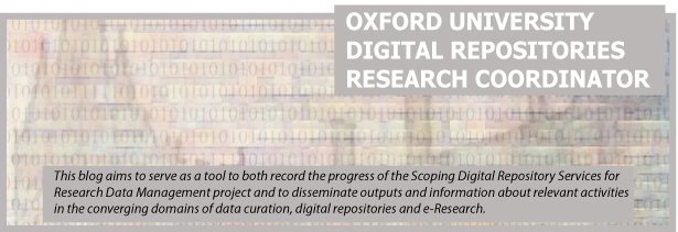 Oxford University Digital Repositories Research Co-ordinator