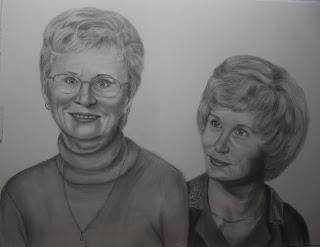 Graphite Pencil Portrait Commission for mother