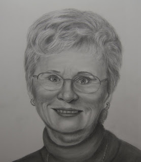 Graphite Pencil Portrait Commission - Mother's Birthday Gift