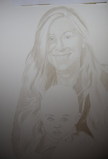 Mother and Child Portrait Commission - Watercolor