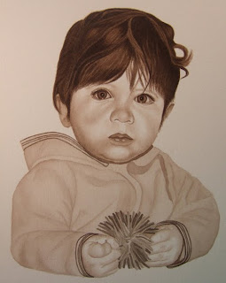 Watercolor Portrait of Baby