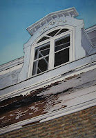 Watercolor Painting - Peeling Paint Quebec Building