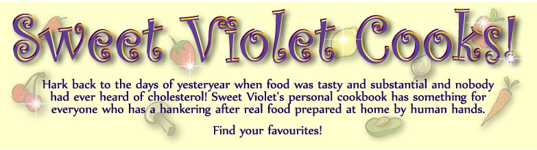 Sweet Violet Cooks!