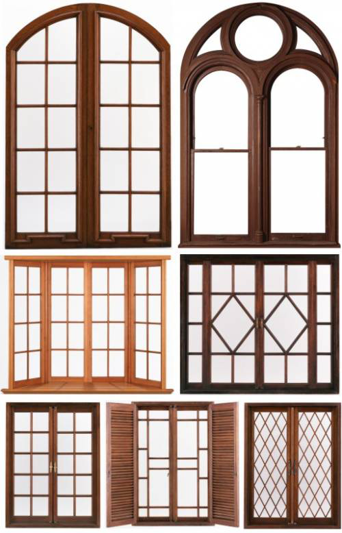 Download wood windows new photoshop for Window frame design