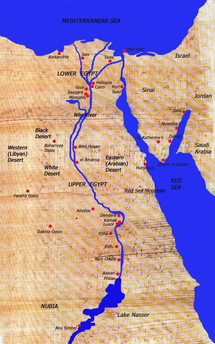 Classroom Connections The Geography Of Egypt - Map of egypt today