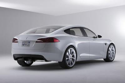 Reli Vožnje Tesla+Model+S+Back+View