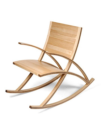 Wooden Wishbone Rocking Chair Design