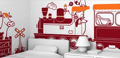 Drive The Train Giant Wall Stickers
