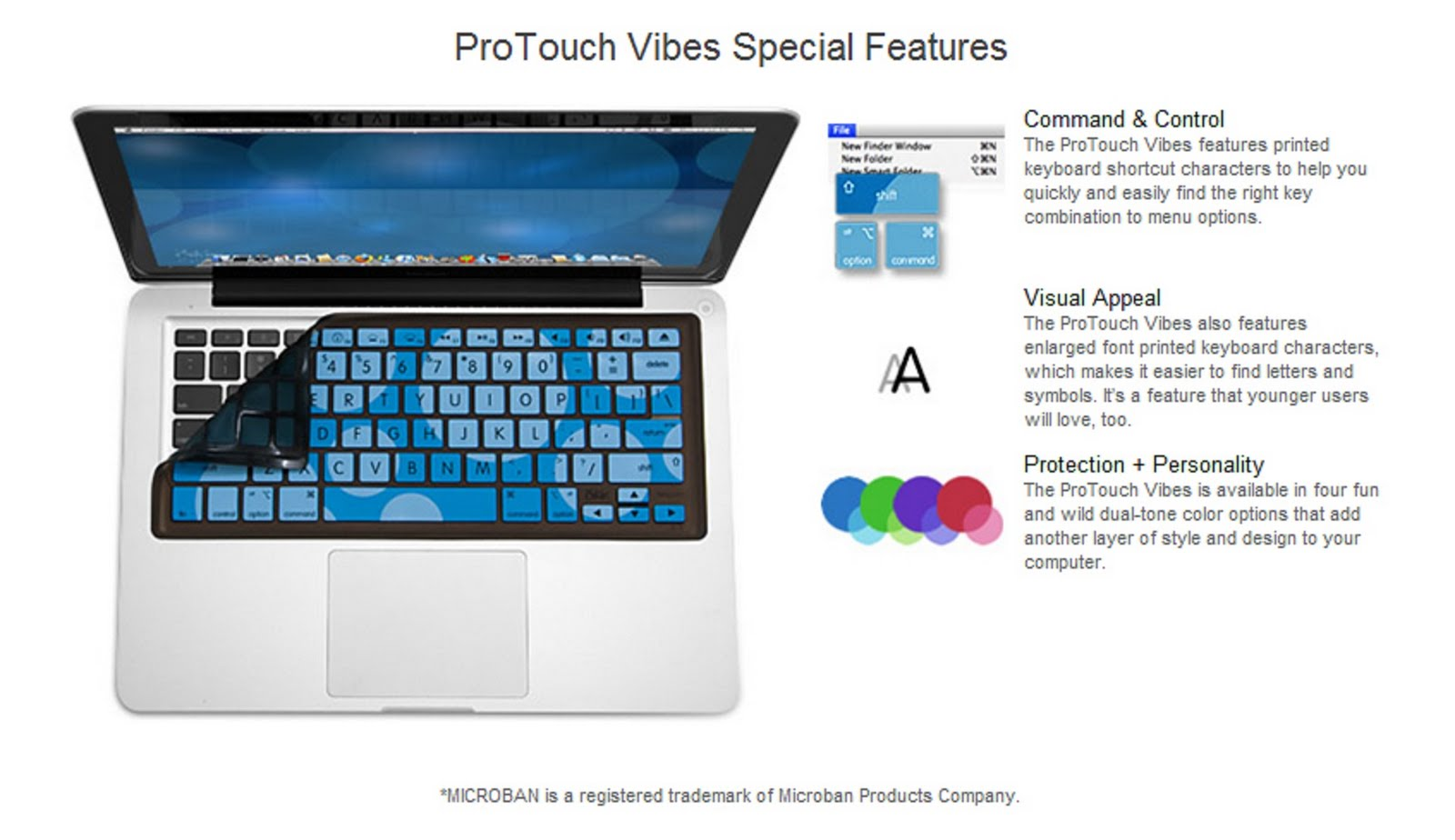 Arctic Clear//Frosted iSkin Protouch Classic Silicone Keyboard Protector