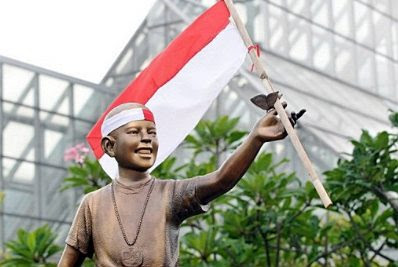 Obama statue in Indonesia