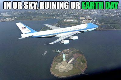 Air Force One — Earth Day