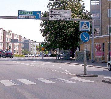 Malmö: Rosengård sign