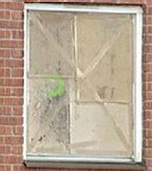 Window with hole