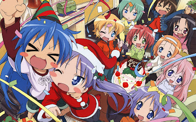 lucky star anime christmas wallpaper