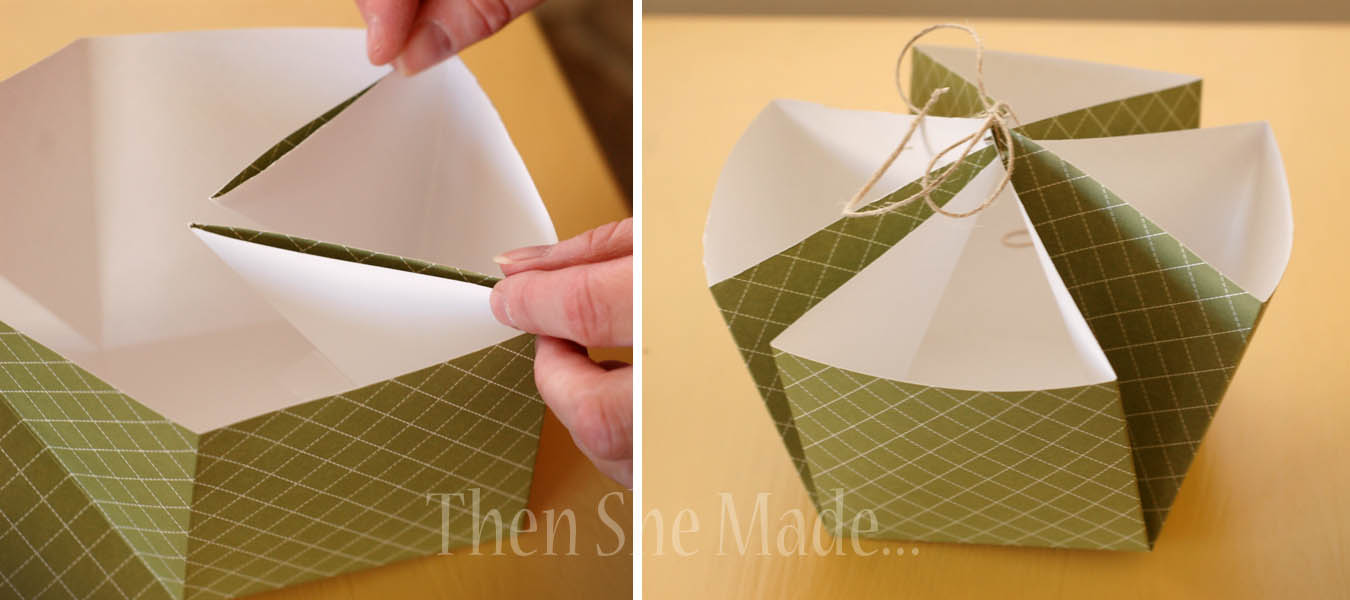 Handmade Paper Baskets Step By Step : Then she made a tiskit tasket two little green