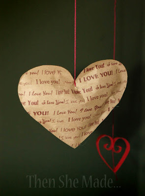 Stuffed Brown Paper Hearts