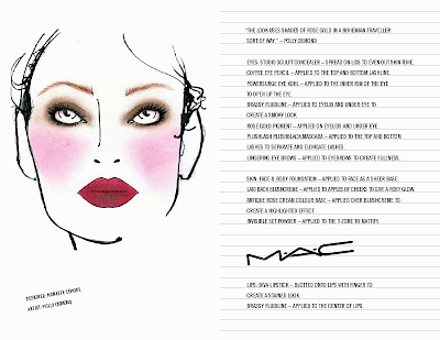 New York Fashion Week: M·A·C Daily Face Chart Report from February 18