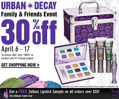 Urban Decay Friends and Family Time…