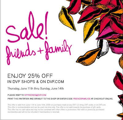 Diane Von Furstenberg Friends and Family Savings