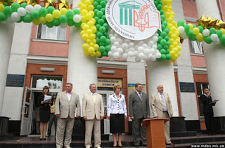 День знаний и посвящение в студенты. 1 сентября 2010 года.