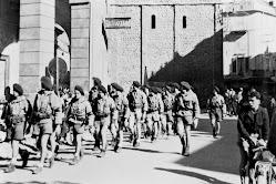 DEFILE DE LA COMPAGNIE STEPHANE EN 1944 A ST JEAN DE MAURIENNE