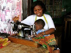 Seamstress in Kumasi